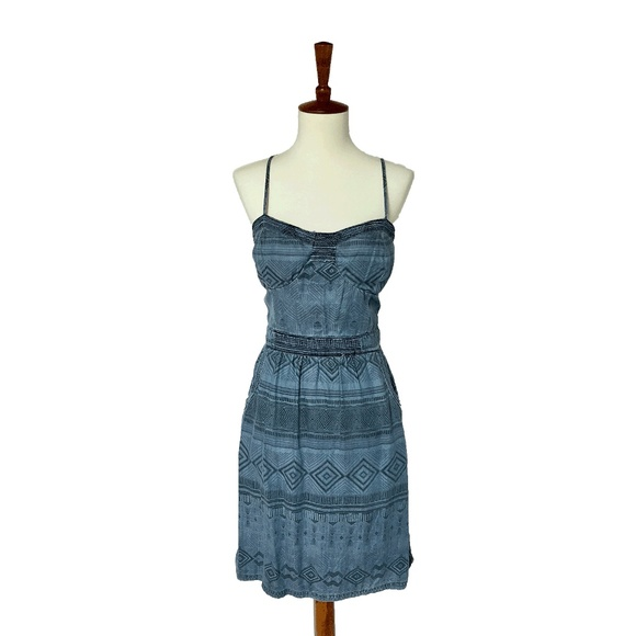 Zara Dresses & Skirts - Tribal Chambray Dress